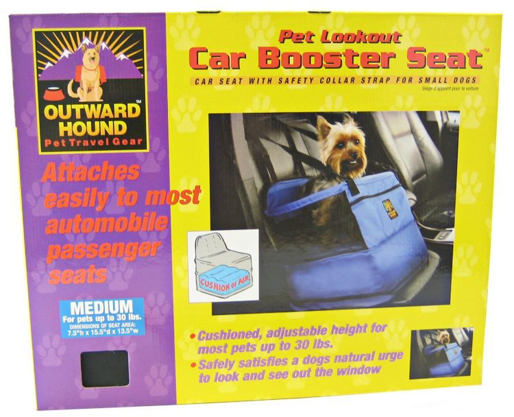 Outward Hound Cushioned Pet Lookout Car Booster Seat