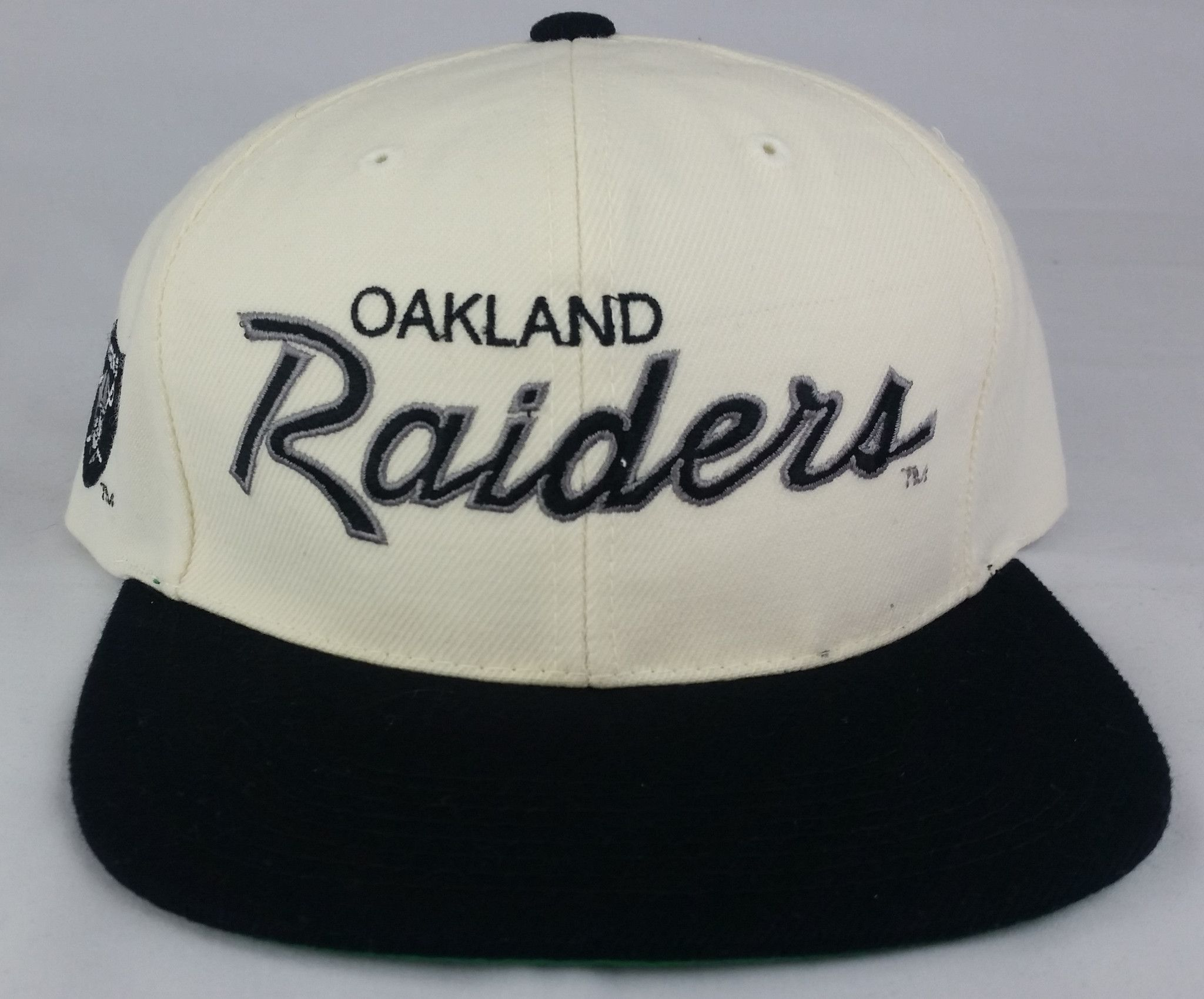 01bd00095 Oakland Raiders Vintage Snapback Sports Specialties Script Hat Wool ...