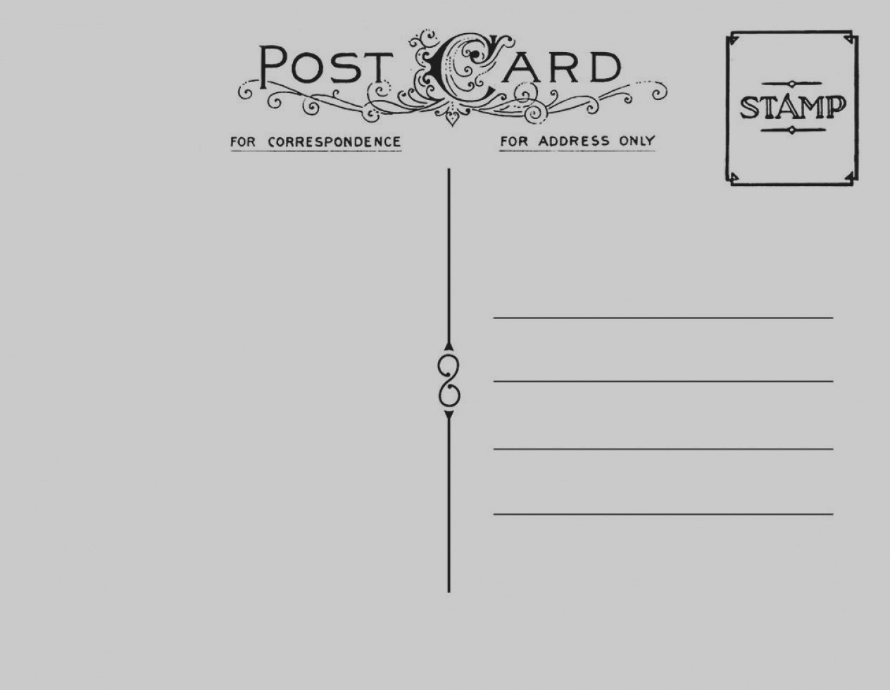 Images Of Blank Postcard Template Free Postcards Endo Re Enhance