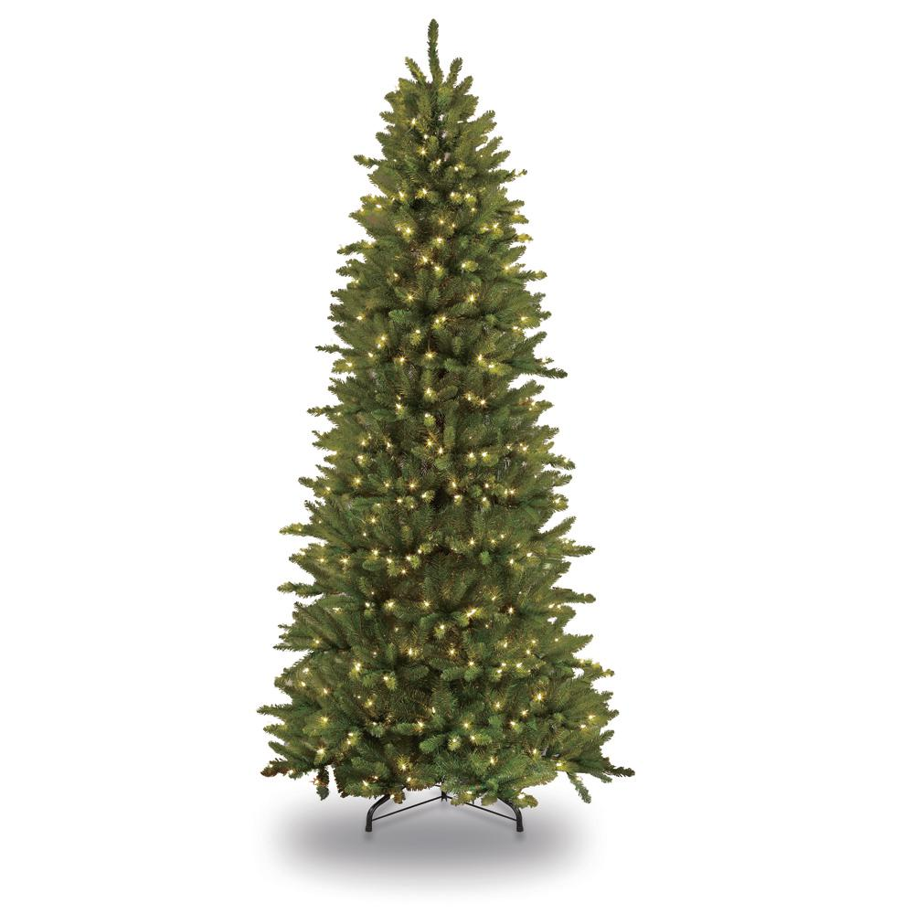 Puleo International 4 5 Ft Pre Lit Incandescent Slim Fraser Fir Artificial Christmas Tree With 150 Ul Clear Lights 277 Ffsl 45c15 Slim Christmas Tree Pre Lit Christmas Tree Slim Artificial Christmas Trees