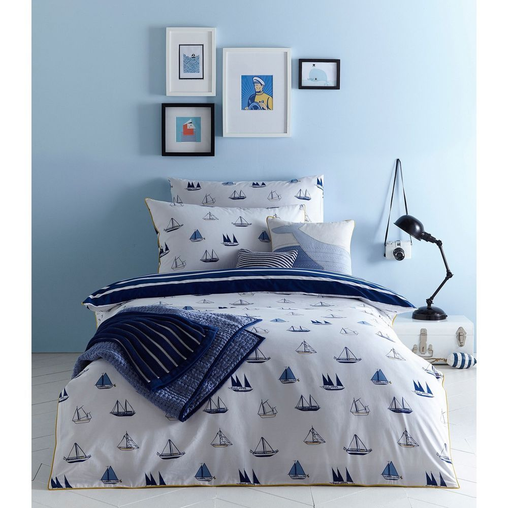 J By Jasper Conran Kids Blue 'Boats' Print Bedding Set ...