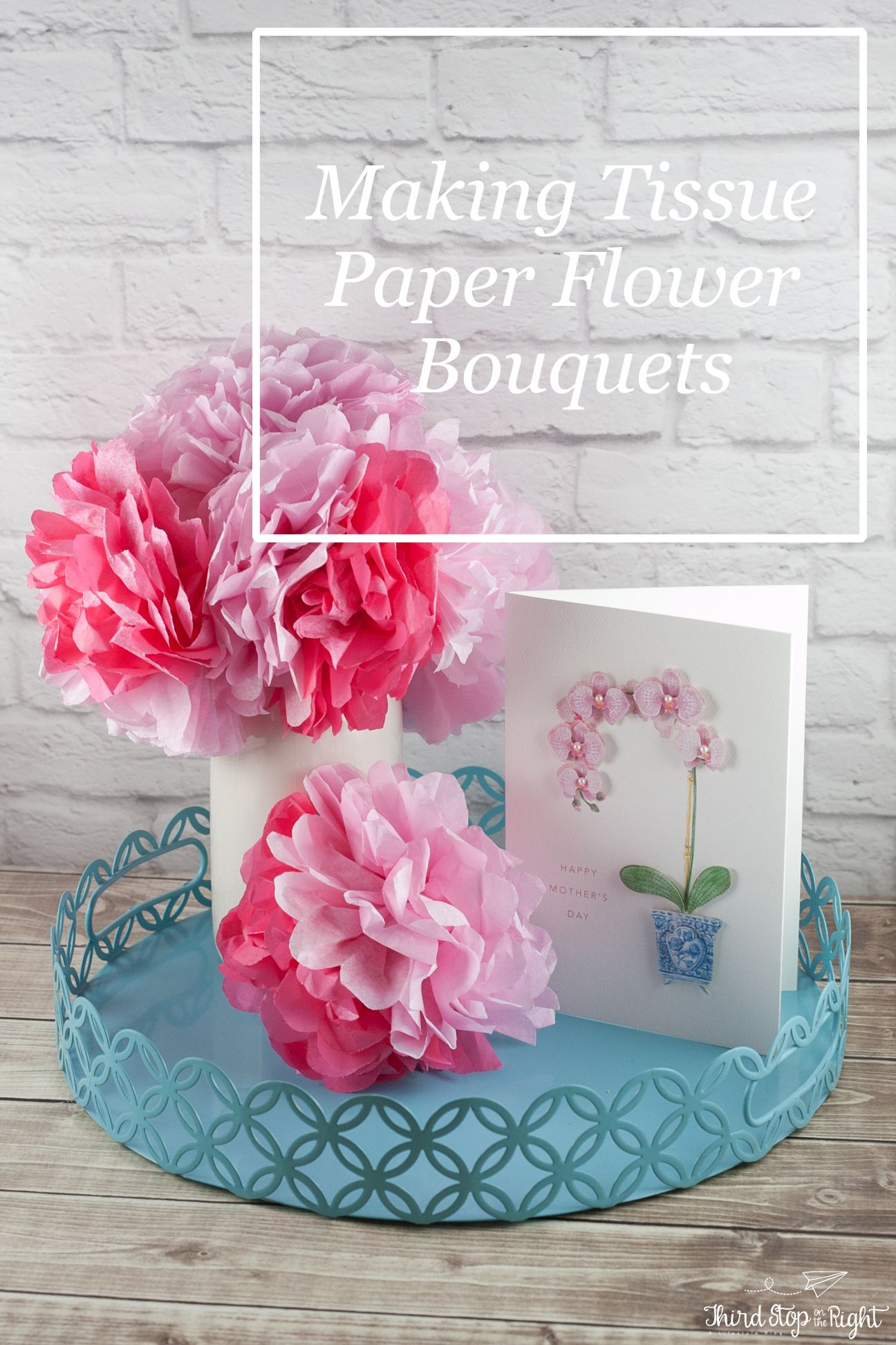 Make Beautiful Tissue Paper Flowers In Four Easy Steps Perfect For