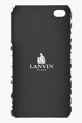 Lanvin White Faces Print Iphone Case