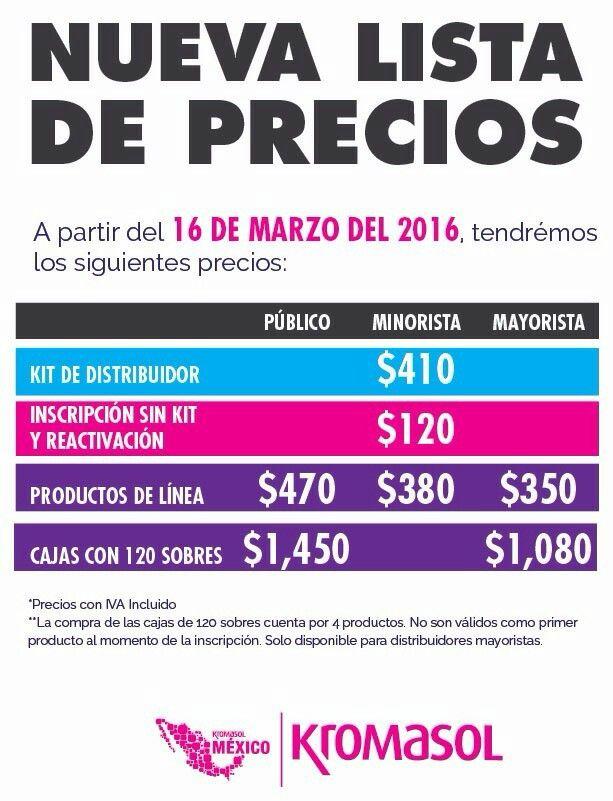 Precios 2016
