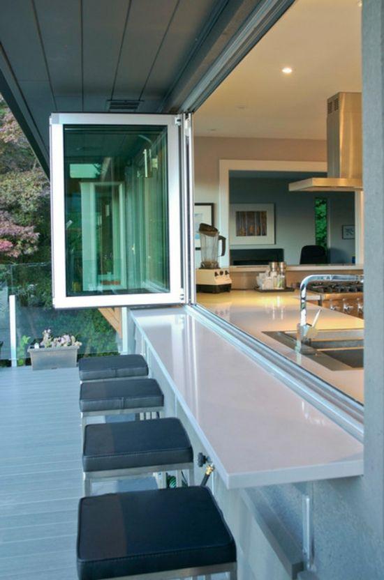 balkonmöbel balkon und innenraum verbinden Tuinen en terrassen - arbeitsplatte küche verbinden