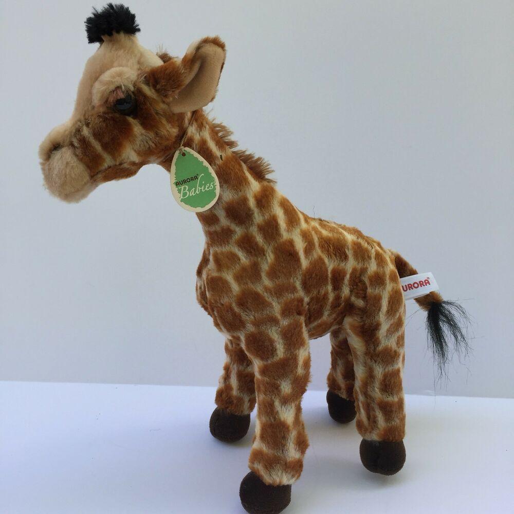 Predownload: Aurora Babies Plush Giraffe Soft Realistic Stuffed Animal 14 Tall Lovey Aurora Realistic Stuffed Animals Giraffe Plush Toy Puppies [ 1000 x 1000 Pixel ]