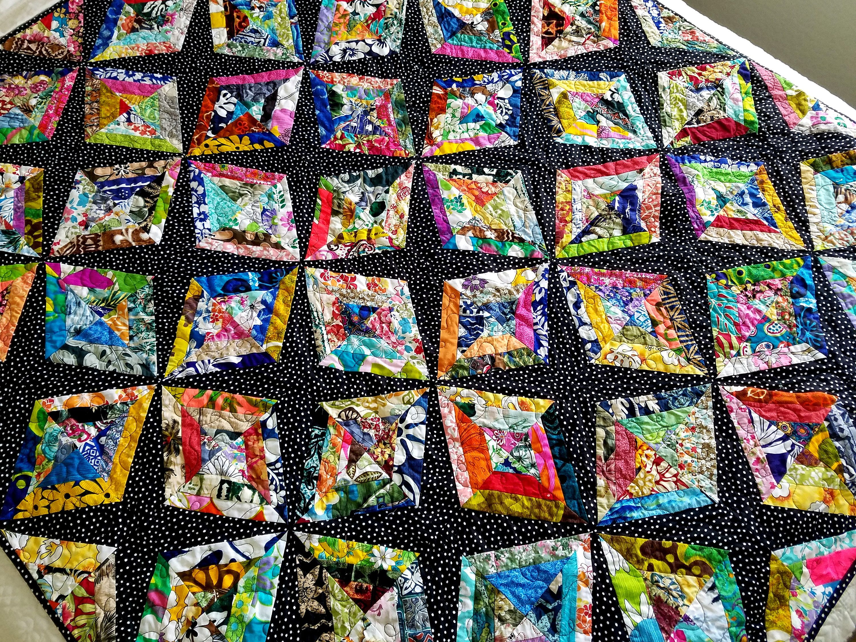 Modern lap quilt, sofa quilt, quilted sofa throw, wonky ...