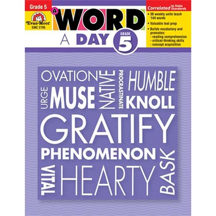 A Word A Day Gr 5 - EMC2795 | 5th & 6th Grade Curriculum