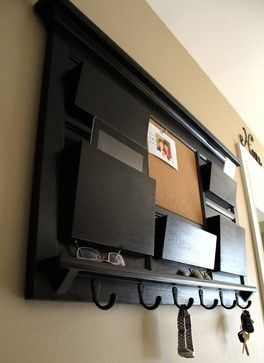 Mail Organizer Cork Board With Key Hooks Contemporary Home Office Kitchen Pinterest Boards And