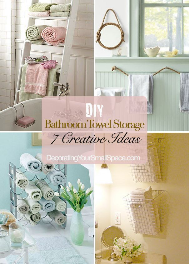 Exceptionnel DIY Bathroom Towel Storage: 7 Creative Ideas