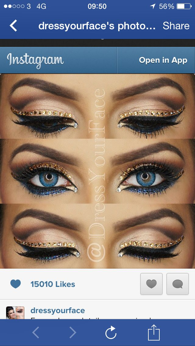 Sexy Moroccan Bling Eye Makeup Makeup Pinterest Makeup Eye