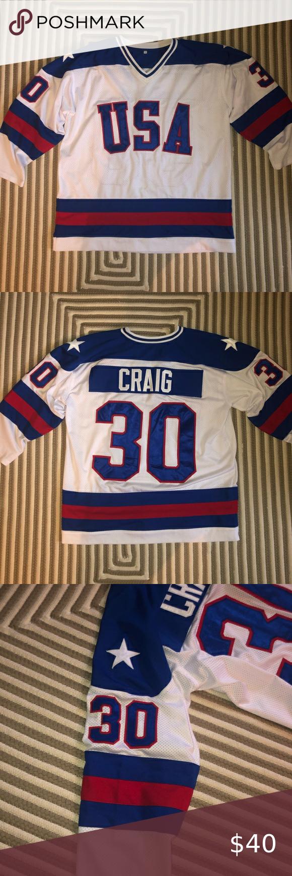 1980 Team Usa Hockey Jersey Jimmy Craig In 2020 Team Usa Hockey Hockey Outfits Usa Hockey