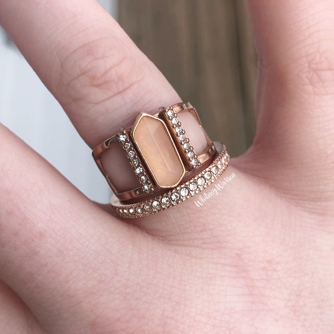Keep collective. Ring. Rose gold. Rose quartz. Stacked rings. | Keep ...