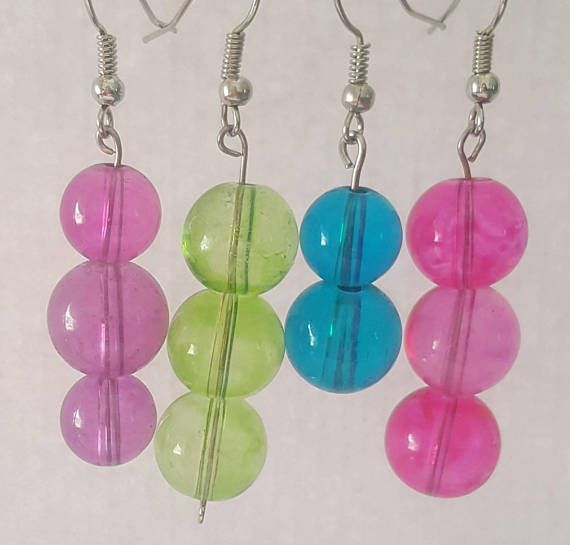 Check out this item in my Etsy shop https://www.etsy.com/listing/484773529/pink-green-blue-or-purple-glass-beaded
