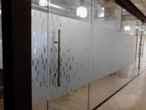 Office Window Frosted Glass Graphics for Corporate