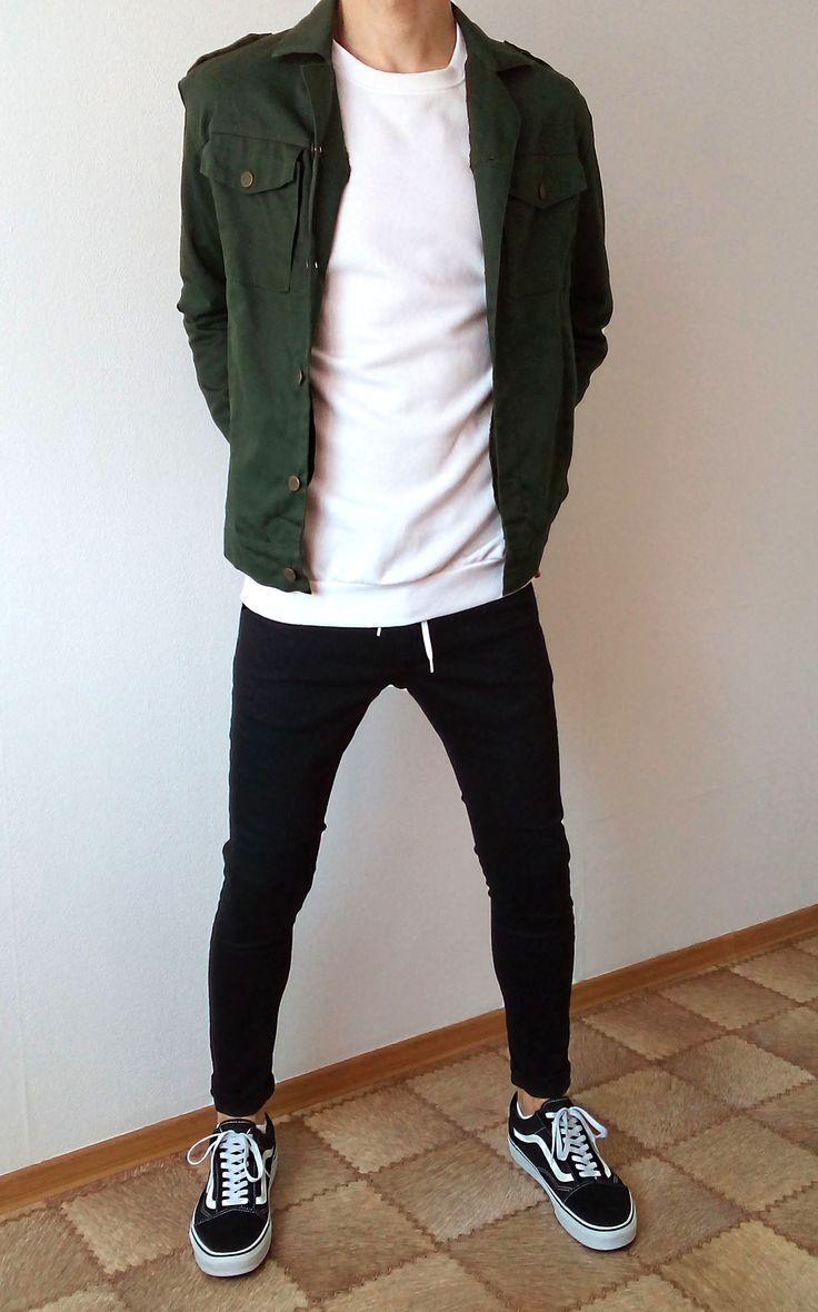 vans old skool noir jeans skinny garçons tenue garçons   les