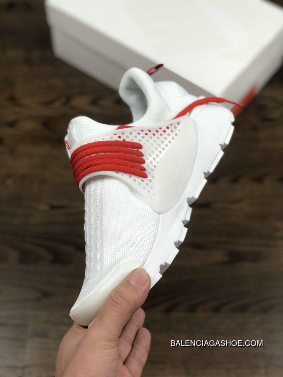 outlet store 9b5af cfe9a Nike Sock Dart Kjcrd Triple White Running Shoes 819686-100 White Red Orange  Super Deals