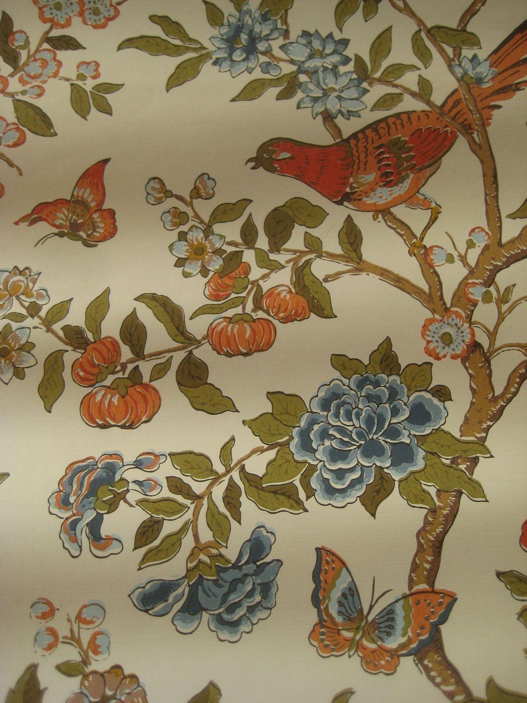 Awesome Kimono Truffle Floral Wallpaper Laura Ashley