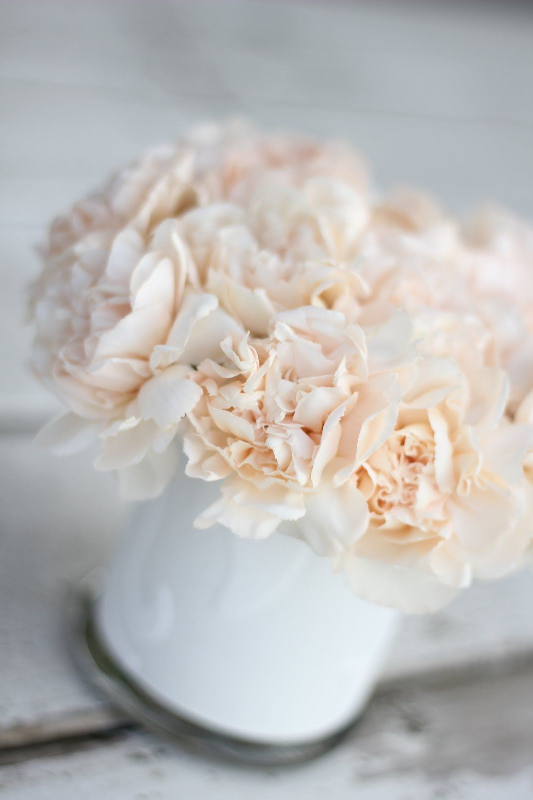peach carnations garden roses diy wedding centerpiece bouquet ...