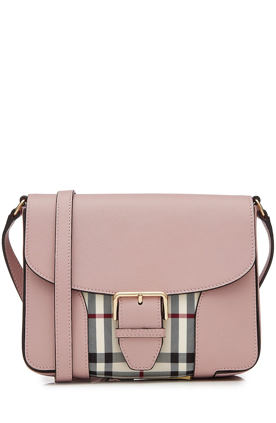 BURBERRY Leather Shoulder Bag With Check Print.  burberry  bags  leather   lining  denim  shoulder bags  cashmere  knit   cdfc6b56a