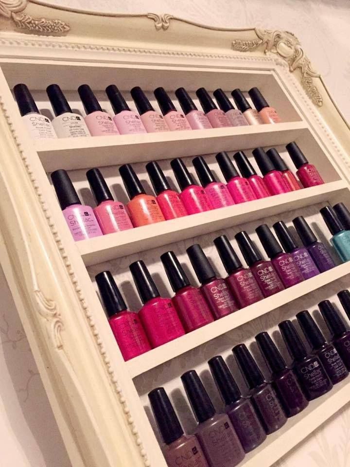 espositore smalti nail polish rack french shabby chic