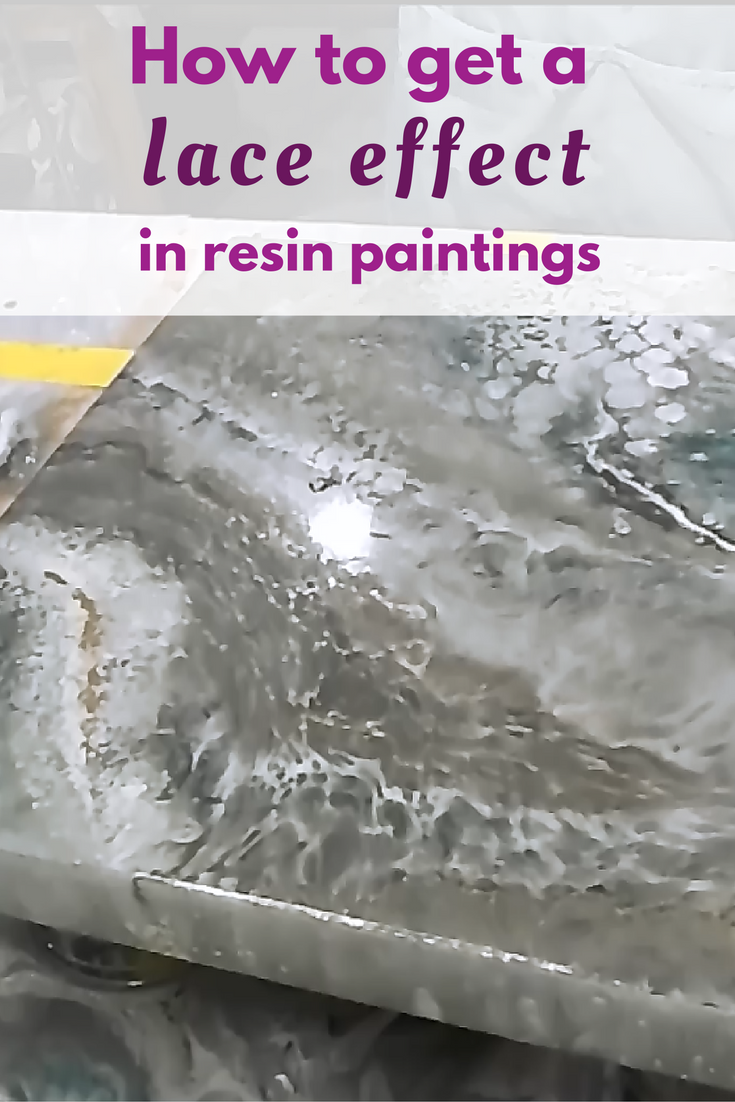 Epoxy Paint Effects : How to get a lace effect in resin pours tutorials
