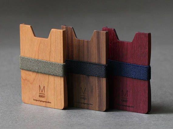 4d677b660fa9 Mens wallet Minimalist wallet gucci men wooden wallet money