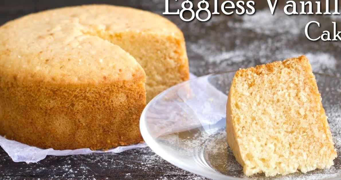 Eggless Vanilla Sponge Cake No Oven In Pressure Cooker No Condensed Milk The Terrace Ki In 2020 Vanilla Sponge Cake Eggless Vanilla Sponge Cake Eggless Sponge Cake