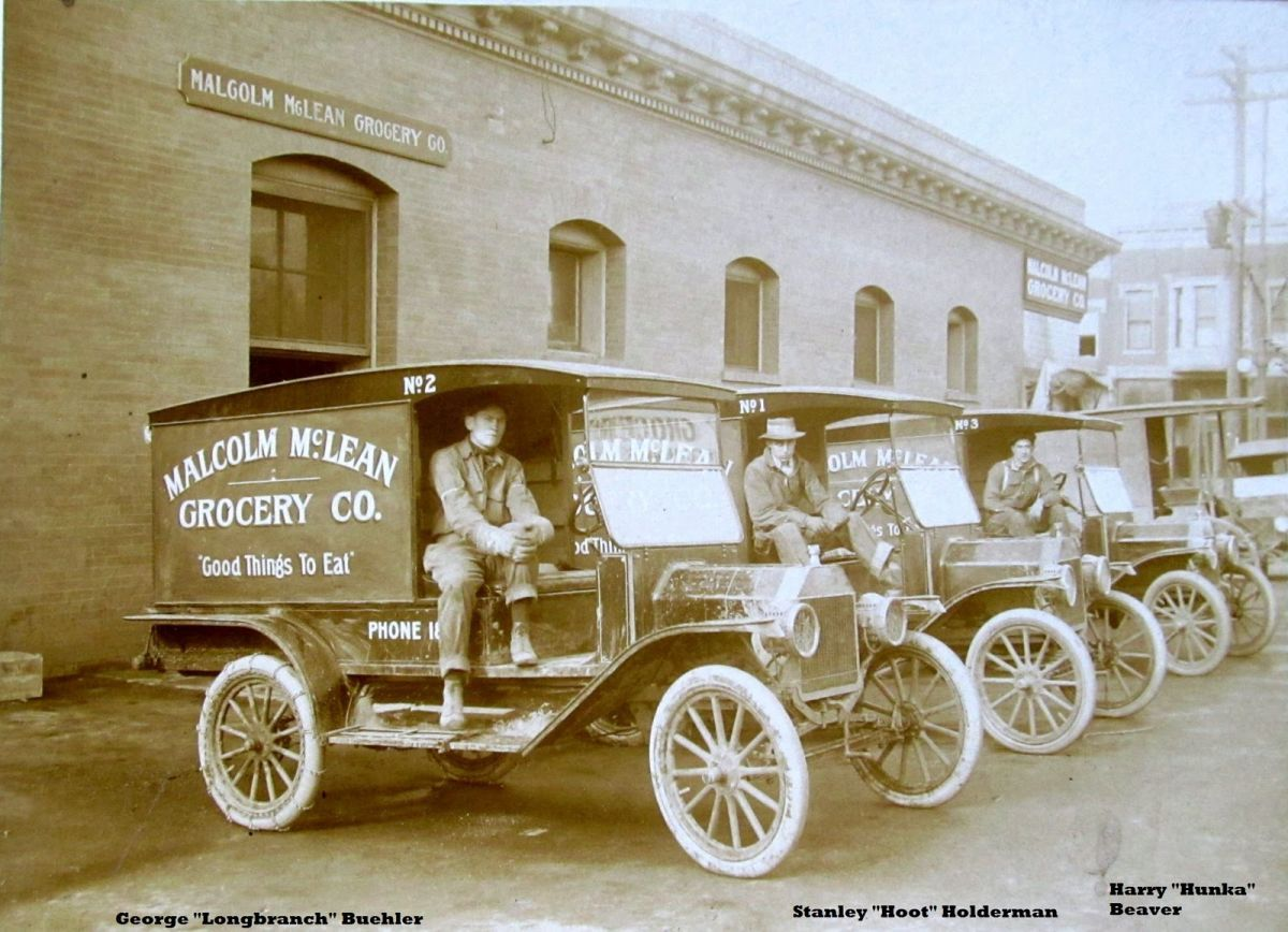 Model T Ford Mclean Grocery Brass Era Delivery Fleet Walla Walla