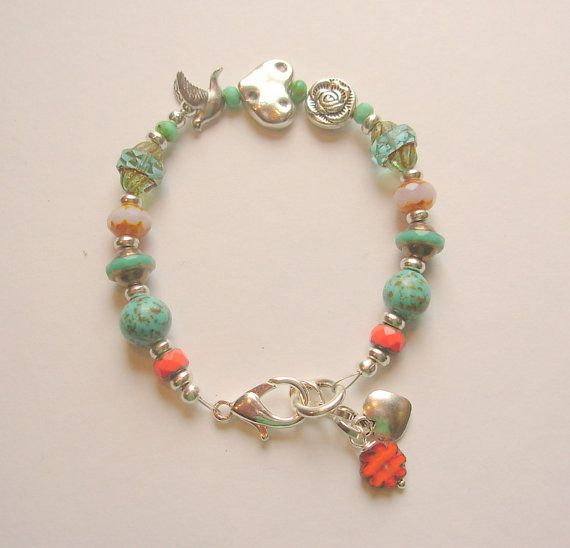 One of a Kind Peace and Love Bracelet by blushingpixie on Etsy, $32.00