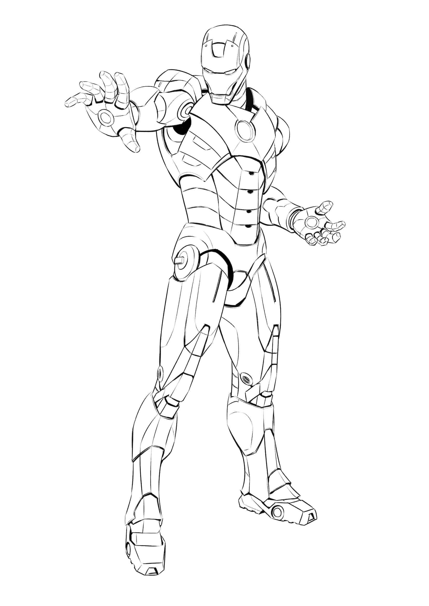 Malvorlagen Iron Man Sketsa