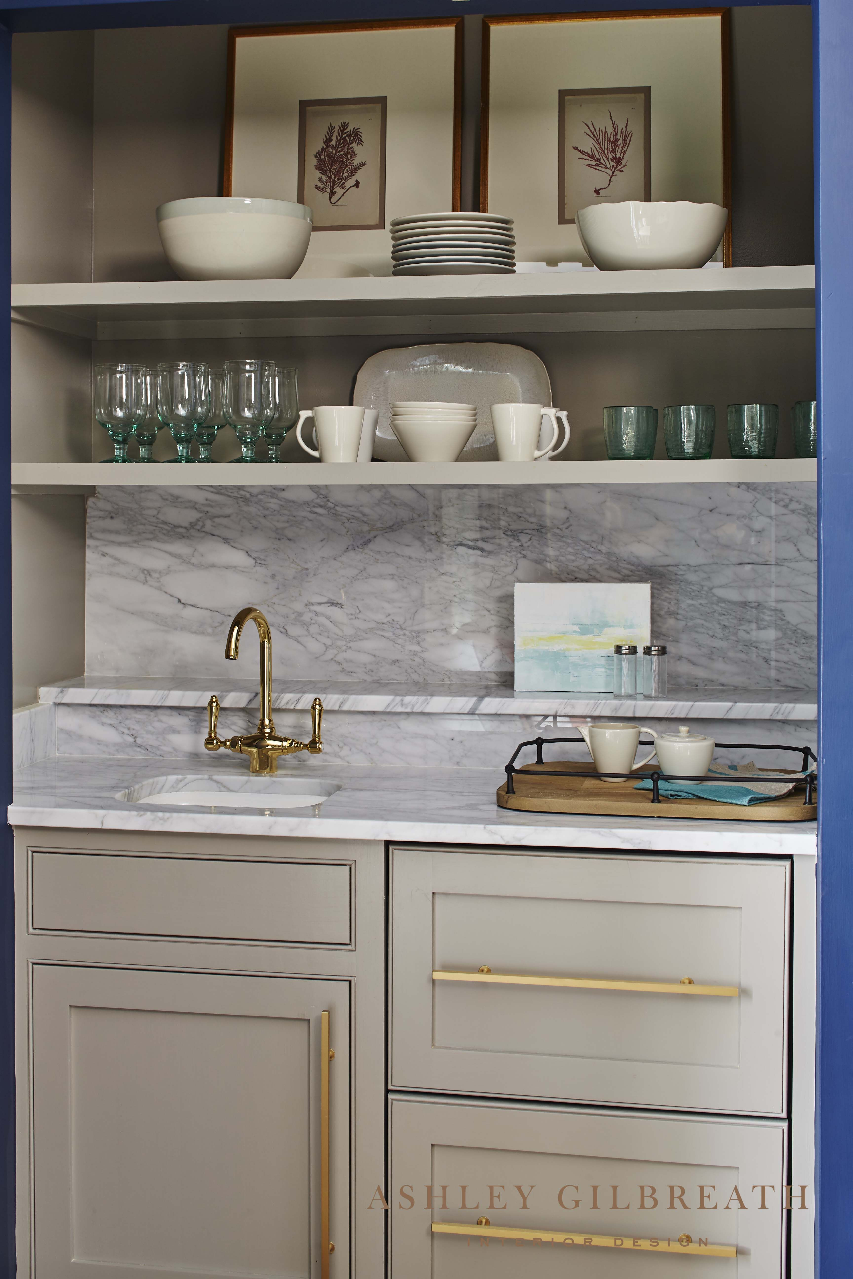 Ashley Gilbreath Interior Design A Coffee Bar Behind Doors Is A Brilliant Idea But There Is No Need To Hide This Beautif Home Wet Bar Wet Bar Kitchen Wet Bar
