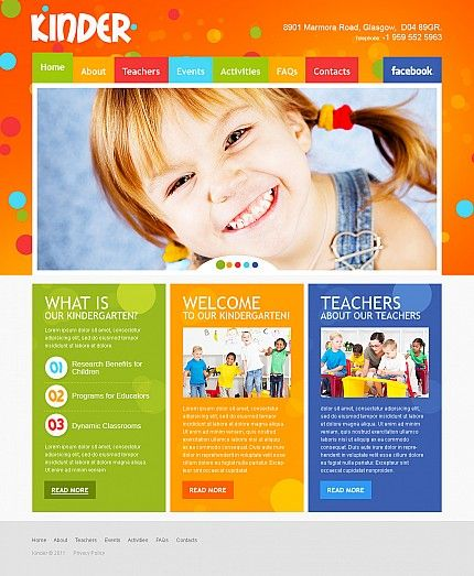 Elementary Or Primary School Website Templates  Template