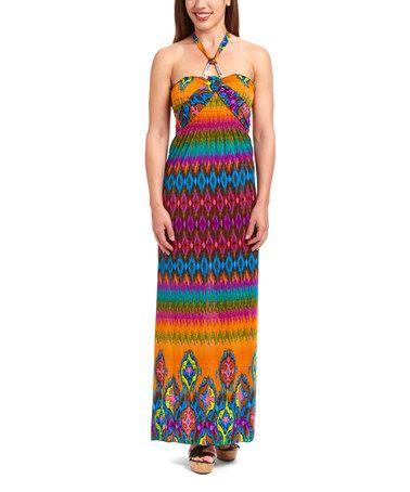 Another great find on #zulily! Jade Abstract Silk-Blend Maxi Dress - Women #zulilyfinds