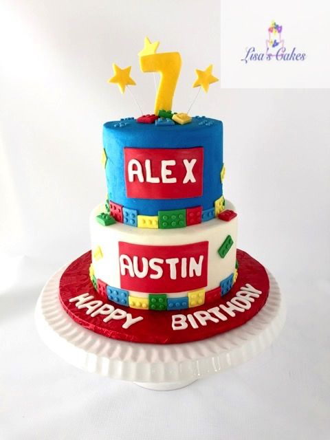 Lego themed birthday cake Childrens Birthday Cakes Pinterest