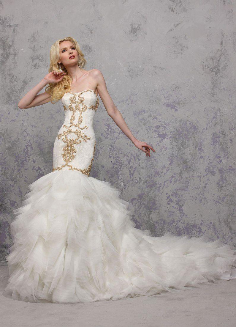 Gold dresses for wedding  Impressive Designs Yumi Katsura Couture   Couture Wedding
