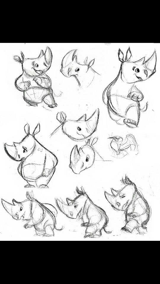 I Want A Cute Rhino Tattoo In Memory Of My Father Character Design Animation Cartoon Character Design Illustration Character Design