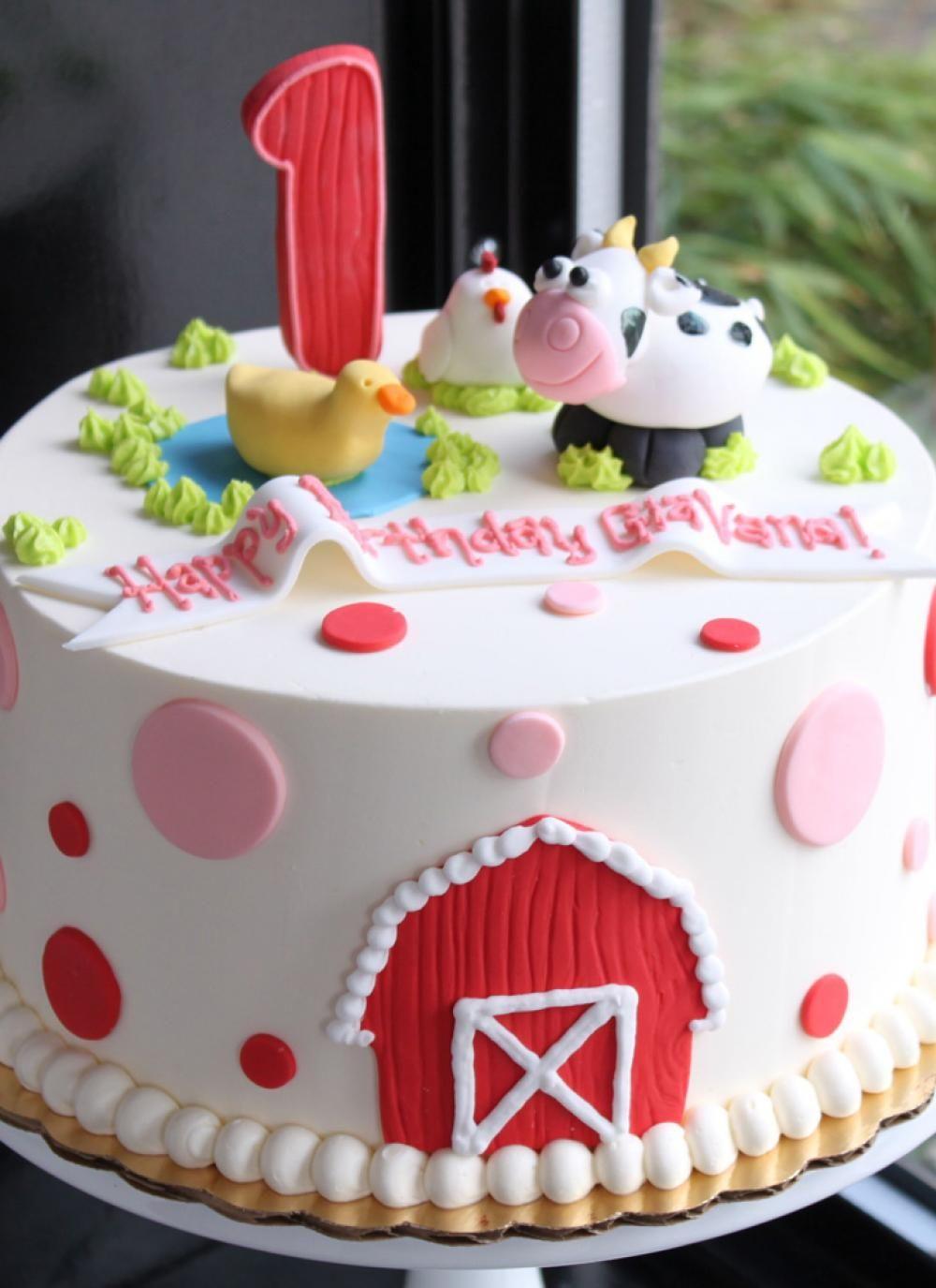 Whipped Bakeshop Philadelphia Dotty Farm Animal Birthday Cake