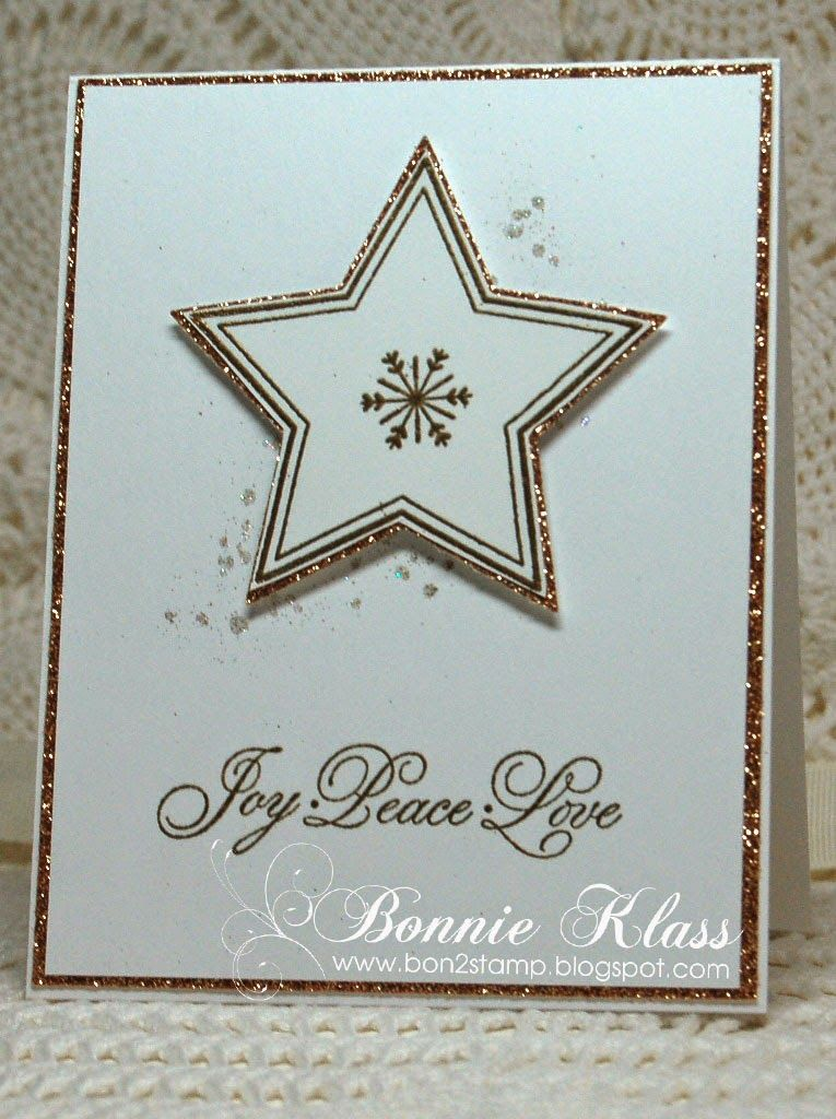 Stamping with Klass: Many Merry Stars - used a Gorgeous Grunge stamp behind the star for stardust