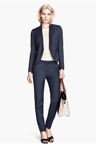 Navy Pant Suit Womens