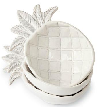 Stacked Pineapple Dip Bowls Ceramic Pineapple Pineapple Decor Pineapple Kitchen