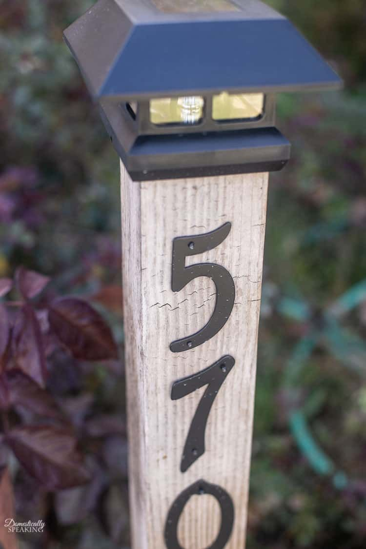 Diy Solar Address Post Address Signs For Yard House Address