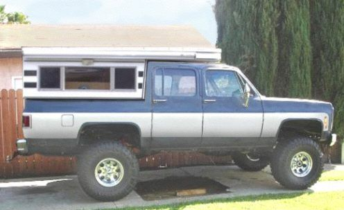 Suburban with Pop-Up camper | RV | Pinterest | Rigs, 4x4 ...
