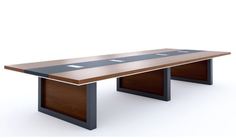 8 Feet Office Table In Walnut Veneer Office Tables Online Boss S Cabin In 2020 Boardroom Table Meeting Table Table