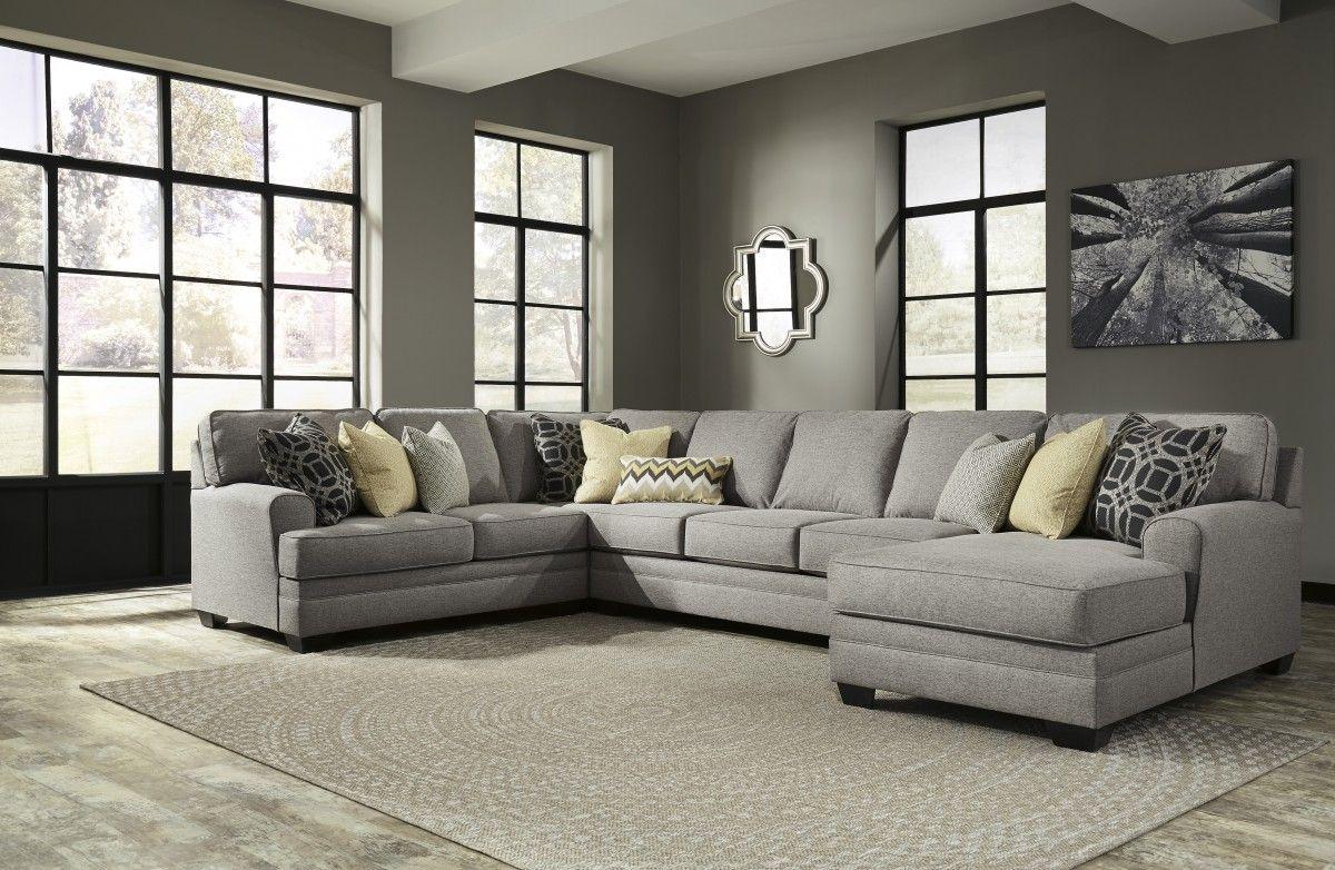 5490799  Signature Designashley Cresson Cresson  Pewter Adorable Living Room Sectional Design Ideas Design Ideas