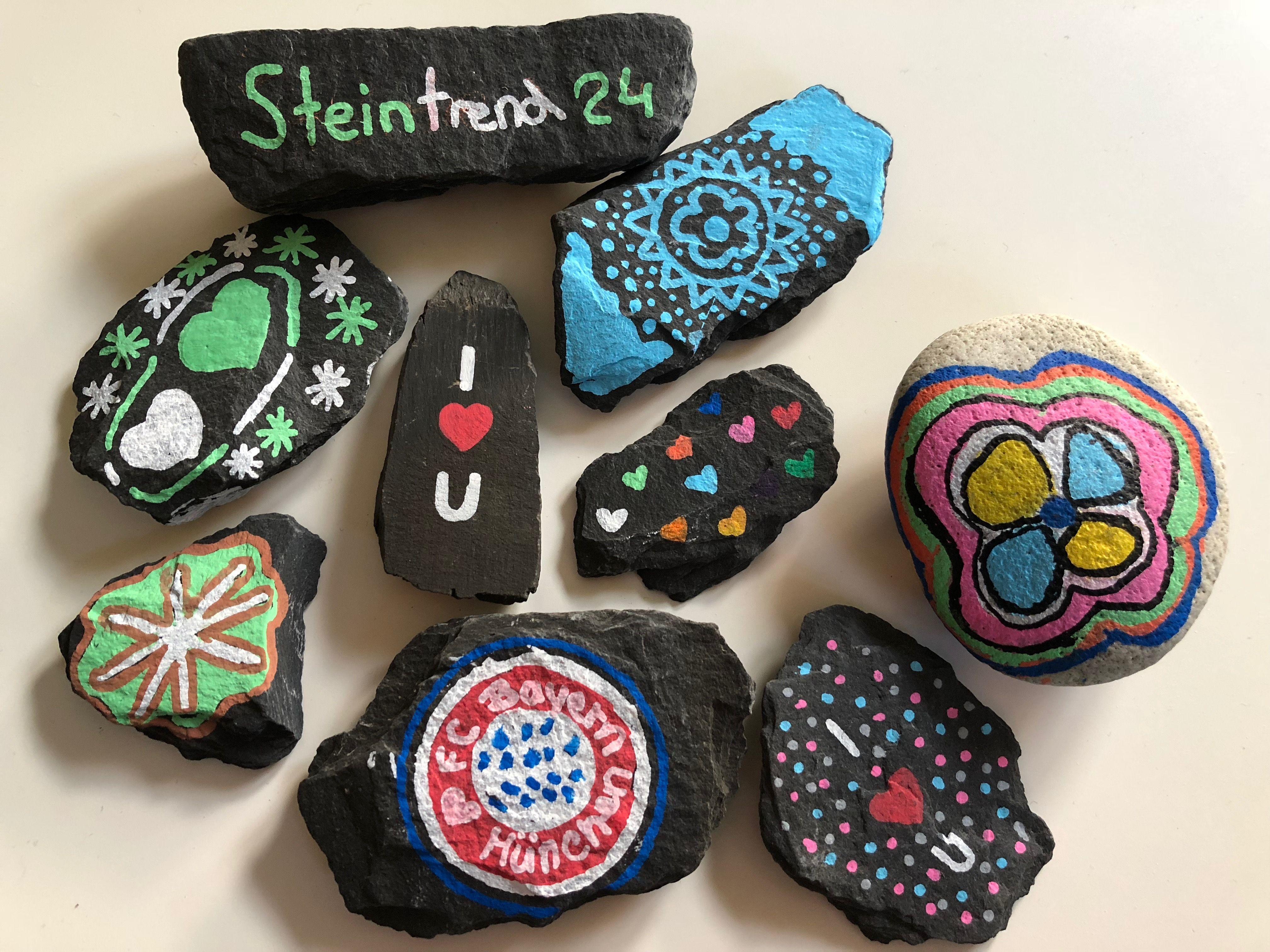 Bemalte Steine Finden