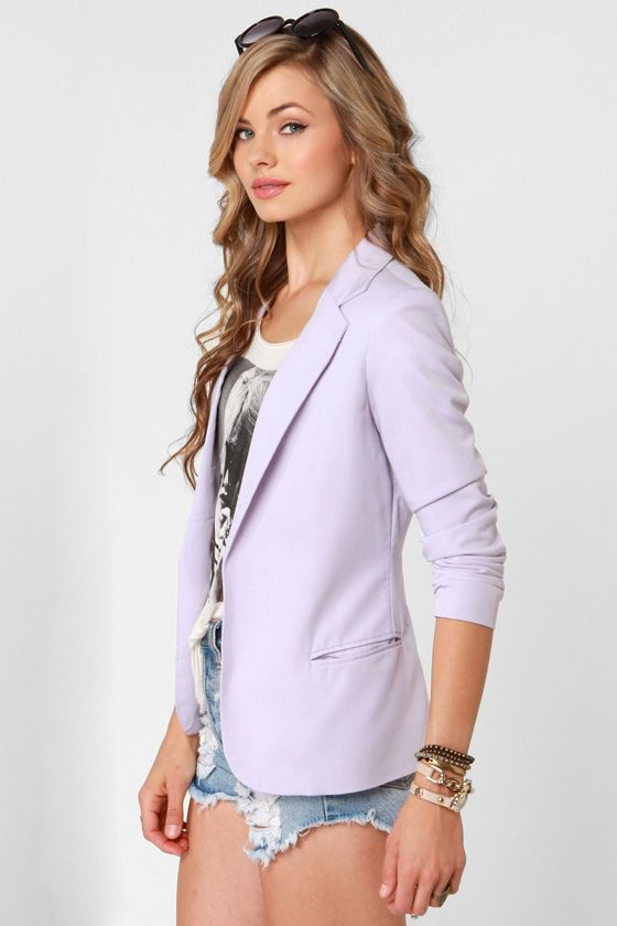 3b19249def0 Softer Side Lavender Blazer in 2019 | Runway Worthy | Blazer ...