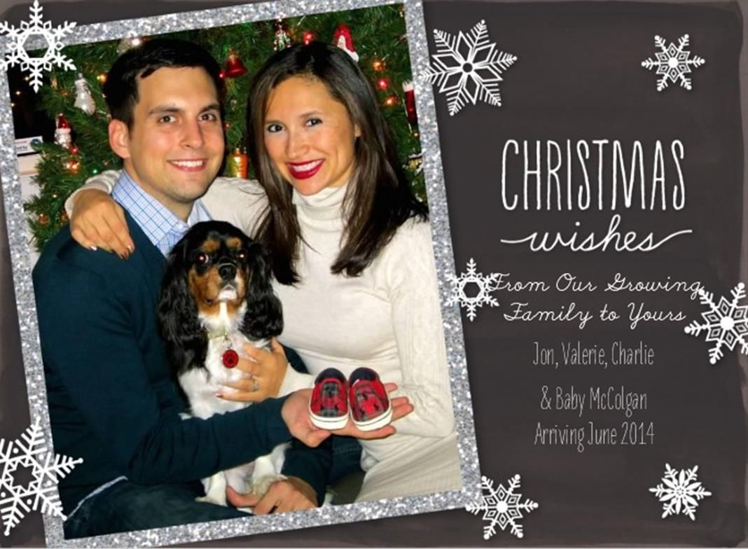 Our Christmas card pregnancy annoucement I don\'t want anyone to know ...