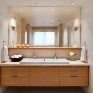 Lighting large bathroom mirror and bathroom vanity lights with lighting large bathroom mirror and bathroom vanity lights with bathroom sink also floating vanity cabinet mozeypictures Images