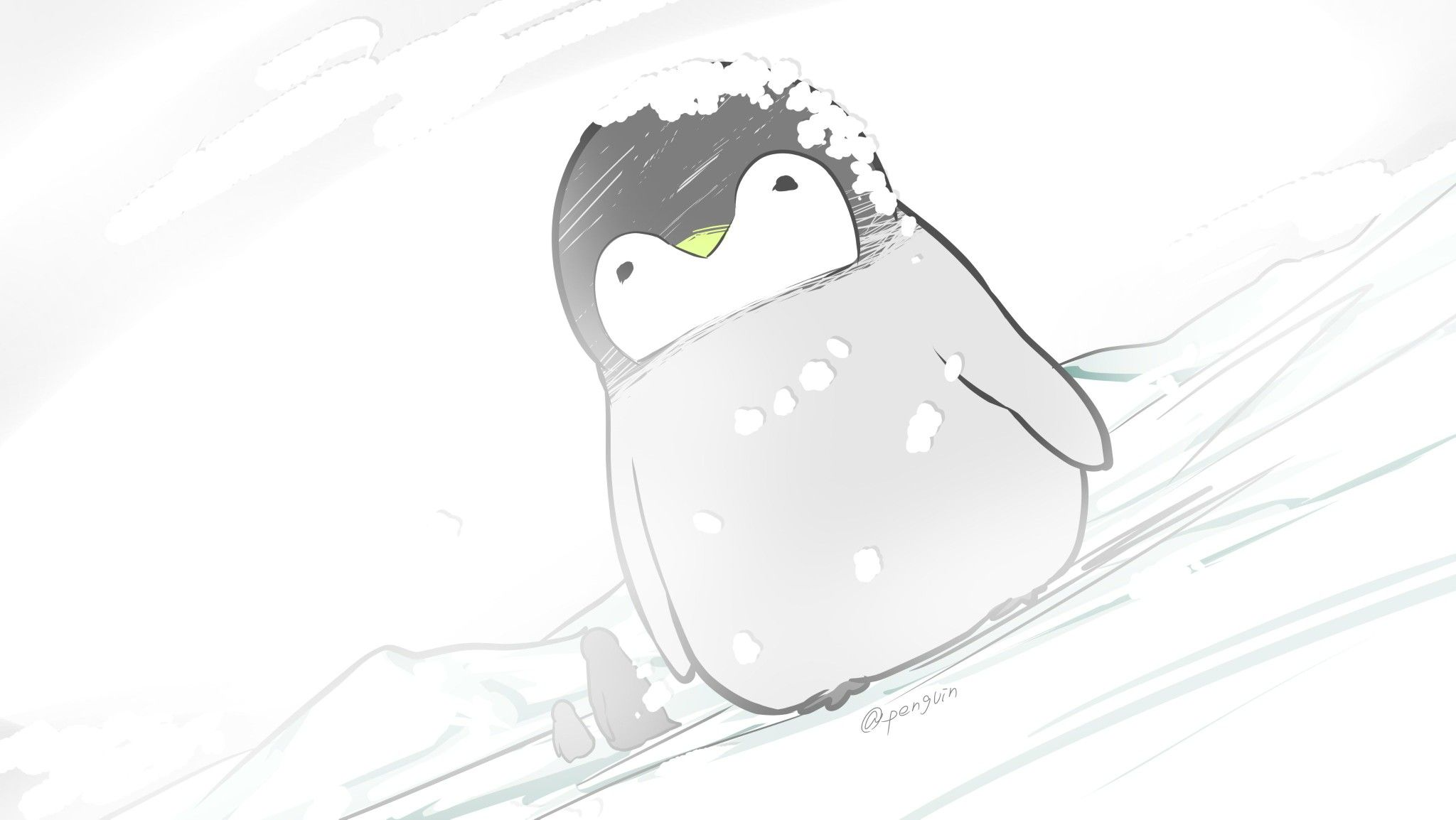 Penguin Kawaii In 2019 Penguin Cartoon Penguin Art